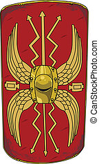 Roman Shield - vector representation of a roman shield