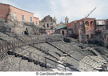 Roman theater in Catania