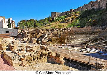 Roman Theater in Malaga, Spain