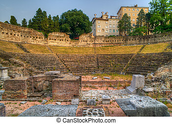 Roman Theater in Trieste, Italy