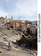 Roman theater ruins in Catania