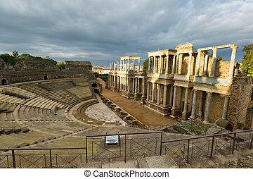Roman Theatre in Merida. Spain