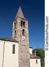 Roman tower in Pre Saint Didier, Italy