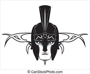 warrior head, suitable for your mascot, symbol, icon. Team/Community Identity, emblem, insignia. etc. Available in EPS and Hi Res JPG