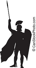 Roman. Warriors Theme - Roman warrior with shield and spear...
