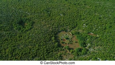 Roman wells aerial in Rajcice near Split - Aerial view of...
