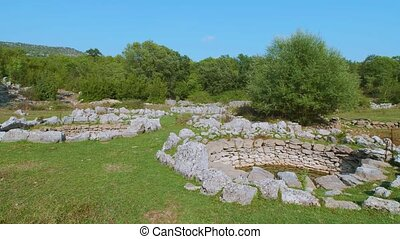 Roman wells detail in Rajcice near Split - Roman water well...