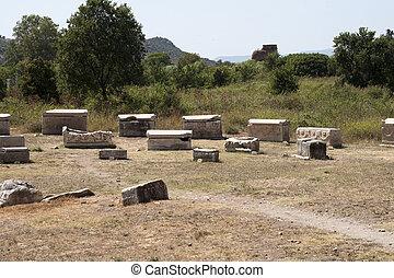 romana, antiga, túmulos