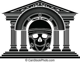 romana,  centurion, cranio