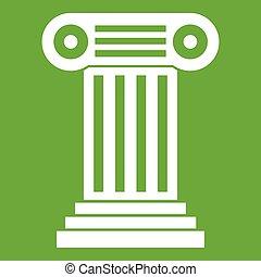 romana, coluna, ícone, verde