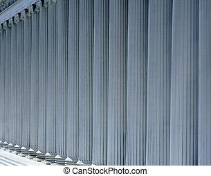 romana, estilo, linha, colunas