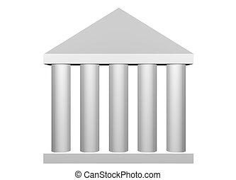 romana, lei, ordem, colunas