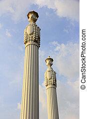 romana, pillars.