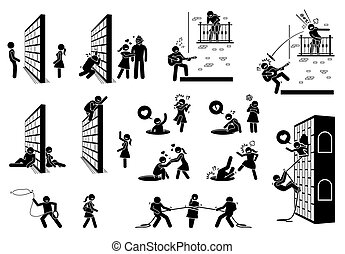 Romance and love stick figure pictogram icons. - Vector ...