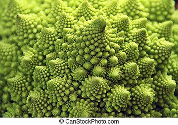 romanesco cauliflower - Close up macro shot of Roman...