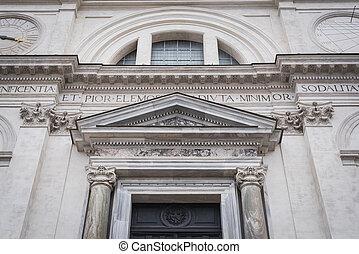 romanesque, ファサド, ローマ, 教会