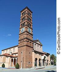Romanesque bell tower - Beautiful Romanesque campanile bell...