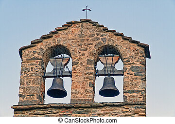 Romanesque bell tower, belonging to the hermitage of Durres...