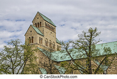 Romanesque cathedral in Hildesheim - The old city of...