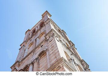 Romanesque Cathedral of Ferrara in Emilia Romagna, Italy