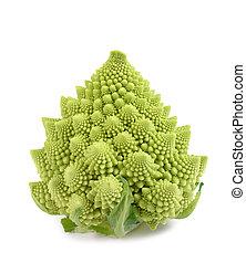 Romanesque cauliflower isolated on white background