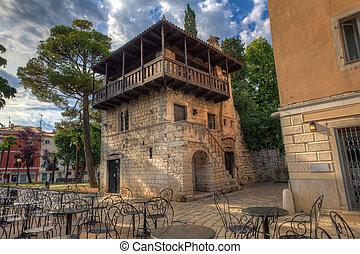 Romanesque House, Porec - View of the Romanesque House in...
