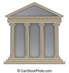 roman/greek, tempio
