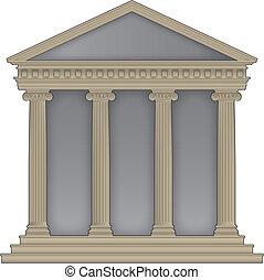 roman/greek, templo