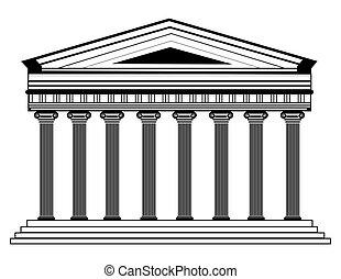 Roman/Greek Vector Pantheon temple