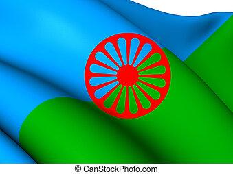 romani, 旗, 人々