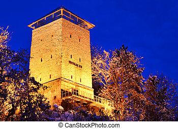 (romania, タワー, 黒, 要塞, landmark), brasov