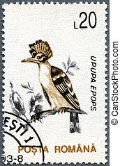 ROMANIA - 1993: shows Hoopoe (Upupa epops) - ROMANIA - CIRCA...