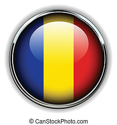 Romania button - Romania flag button