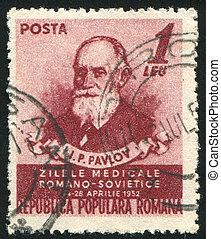 ROMANIA - CIRCA 1952: stamp printed by Romania, show Ivan Pavlov, circa 1952.