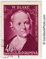 ROMANIA - CIRCA 1958: William Blake English poet, painter, and printmaker, circa 1958