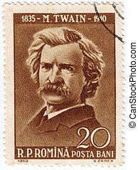 ROMANIA - CIRCA 1960: stamp printed by Romania, show writer ...