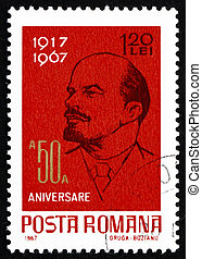 ROMANIA - CIRCA 1962: a stamp printed in the Romania shows...