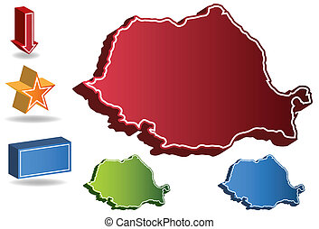 Romania country map