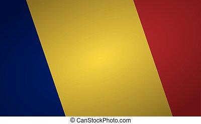 romania flag angle shape.