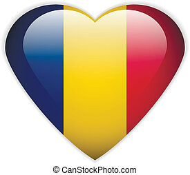 Romania flag button.