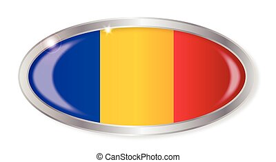 Romania Flag Oval Button
