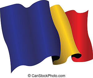 romania flag - national flag of romania