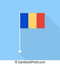 Romania flag. Vector illustration .