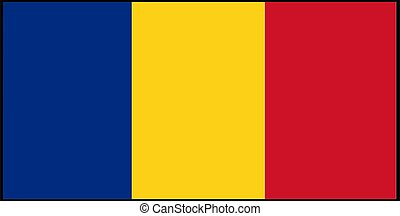 Romania flag vector illustration isolated on background