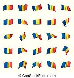 Romania flag, vector illustration