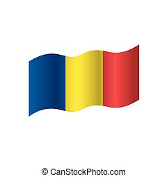 Romania flag, vector illustration