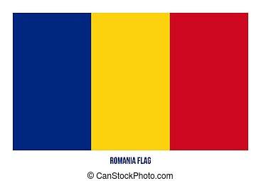 Romania Flag Vector Illustration on White Background. Romania National Flag.