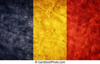 Romania grunge flag. Item from my vintage, retro flags collection