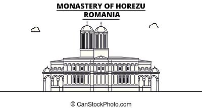 Romania - Horezu Monastery travel famous landmark skyline,...