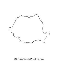 Romania map silhouette